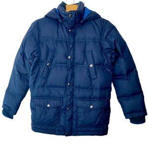 Lands' End  M Navy Blue Down Puffer Jacket Coat